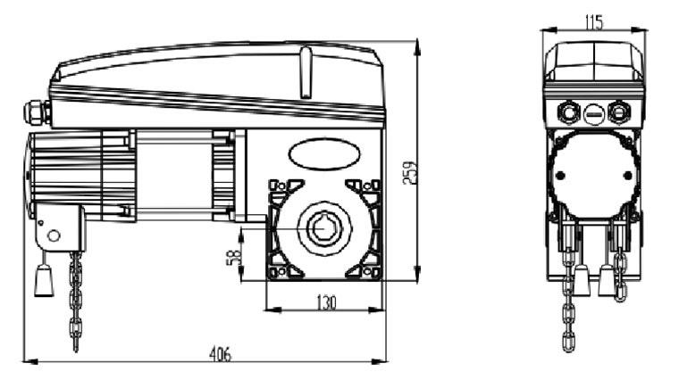 电子行程工业门电机F-850E890E(图3)